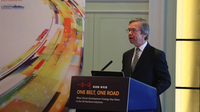 UK maritime services sector welcomes China's One Belt, One Road plan