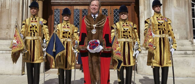 Lord Mountevans elected Lord Mayor of the City of London