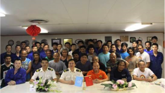 Cosco Maritime (UK) m/v Cosco Shanghai rescues Philippino flagged m/v Foxhound