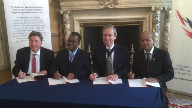 Maritime London & Society of Maritime Industries sign MoU with Mauritius