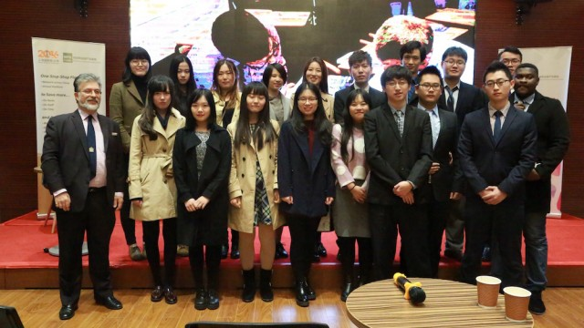 METL gives lecture in Shanghai