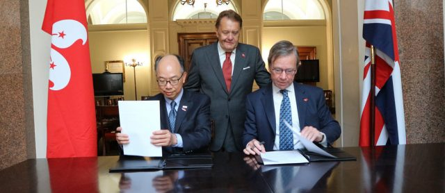 Hong Kong and UK commit to stronger maritime relationship