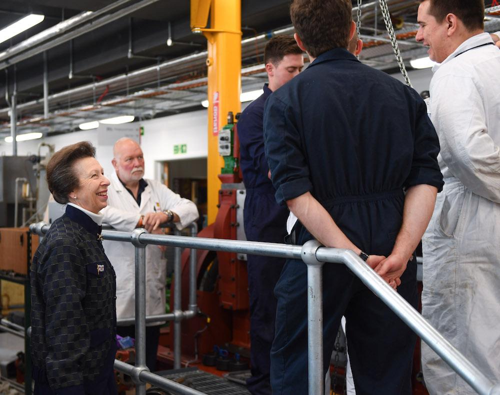 HRH The Princess Royal launches Warsash School of Maritime