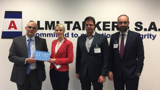 Almi Tankers S.A. one of first Greek maritime companies in Greece awarded LR's ISO 27001